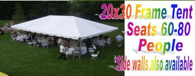 20 X 30 Frame Tent & Kolby-Rentals - Tents